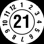 Annual test sticker 2021 | JP321 | favorite color