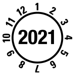 Annual test sticker 2021 | JP421 | favorite color