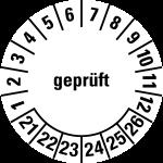 Multi-year test sticker 2021 - 2026 | Checked