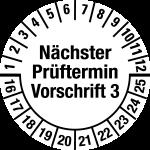 Multi-year test sticker 2016 - 2025 | Next exam date | favorite color