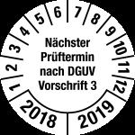 Multi-year test sticker 2018 - 2019 | Next exam date | favorite color