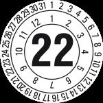 Jahresprüfplakette 2022 | JP522 | Wunschfarbe