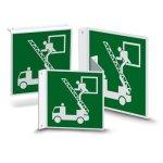 Nose or flag shield | Escape Sign - Rescue Exit (E017)