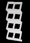 C-Holder   Folienkassettenregal   2-Reihig