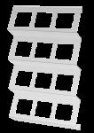 C-holder   Foil cassette shelf   3 rows