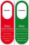 Gastronomy and trade sign - door signpost plastic
