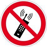 Prohibited sign - mobile radio prohibited