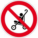 Prohibited sign - baby carriage prohibited