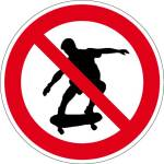 Prohibited sign - skating prohibited