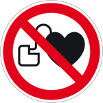 Prohibition Sign - No access for people with heart pacemakers