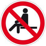 Prohibited sign - sitting prohibited