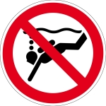 Prohibited - equipment diving prohibited