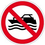 Prohibited sign - machine-operated boats prohibited