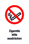Prohibition Sign - Cigarette please express