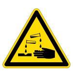 Warning signs - Warning of corrosive substances