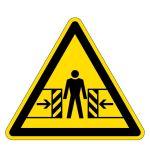 Warning signs - Danger of crushing hazard