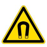 Warning sign - Warning of magnetic field