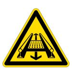 Warning signs - Warning of dange ... y a conveyor system in the track