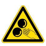 Warning Signs - Warning of rotating rollers
