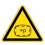 Warning Sign - space is under overpressure