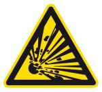 Warning sign - Warning of explosive substances