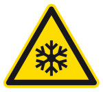 Warning sign - low temperature / frost warning