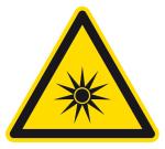 Warning sign - warning of optical radiation