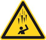 Warning sign - warning of falling icicles