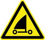 Warning sign - warning from beach sailors