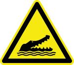 Warning sign - warning from alligators