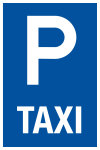 Parking sign - Only for taxi