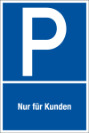 Parking sign - For customers only