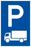 Parking sign - For trucks only