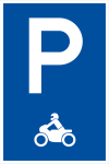 Parking sign - Only for motorcycles