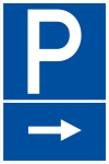 Parking sign - parking right
