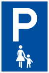 Parking sign - mother and child