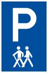 Parking sign for the elderly