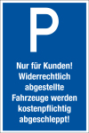 Parking sign - for customers only!