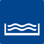Swimming pool sign - outdoor swimming pool