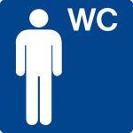 Swimming pool sign - WC men