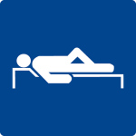 Swimming pool sign - resting place