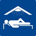 Swimming pool sign - solarium