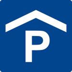 Swimming pool sign - car park