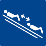 Swimming pool sign - Keep distance