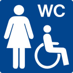 Swimming pool sign - barrier-free WC ladies