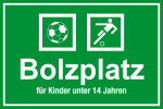 Playground sign - soccer field