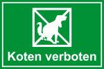 Playground sign - Koten verboten