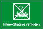 Playground sign - Inline skating prohibited