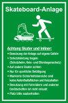 Playground sign - Skateboarding