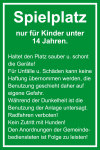 Playground sign - playground only for children under 14 years